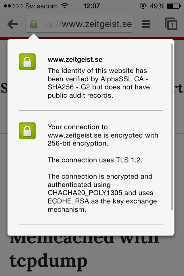 Chrome iOS using ChaCha20 with BoringSSL